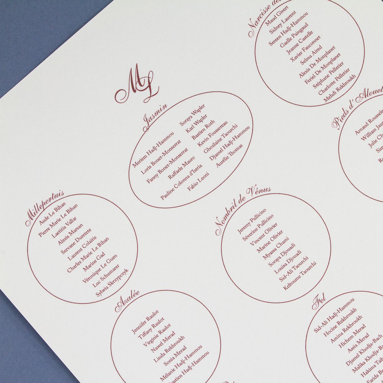 Dorgeval mariage plan table classique velin d 39 orgeval - Plan de table mariage en ligne ...